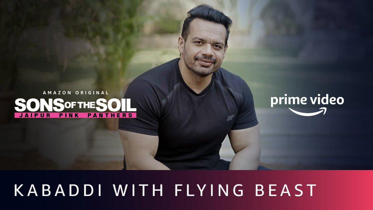 Flexibility aur strength ek khiladi ke liye bahut zaroori hota hai, @flyingbeast320 se iss baare mein bahut seekhne ko mila. #SonsOfTheSoil, Watch Now. 📽️:   @juniorbachchan  @PrimeVideoIN  @JaipurPanthers  @Sandeep_Dhull_4