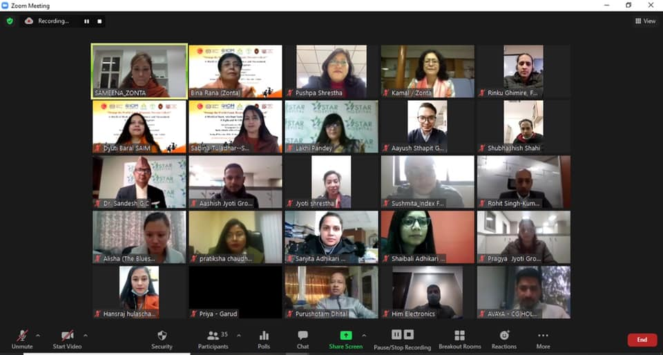 #Virtual #Training for #HR Personnel: #ChampionsForChange - #Build a #World of #Work Free from #Harassment   In collaboration with @fncci_nepal @ILO_Nepal @IOMnepal  #Pourakhi @kblnepal Royal Thai Embassy Nepal.   #BreakTheCycle #EndGBV #16Days #ZontaSaysNo  @ZontaIntl