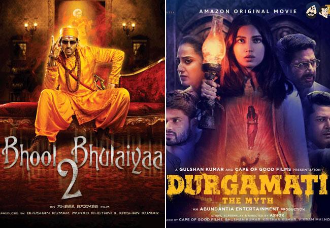 List Of Upcoming Hindi Horror Films!  #RocketGang #Chhorii #BhoolBhulaiyya2 #RoohiAfzana #Bhediya #PhoneBhoot #BhootPolice #DurgamatiTheMyth #bollywoodfilms #upcomingmovies #santabanta #slideshow For More Visit: