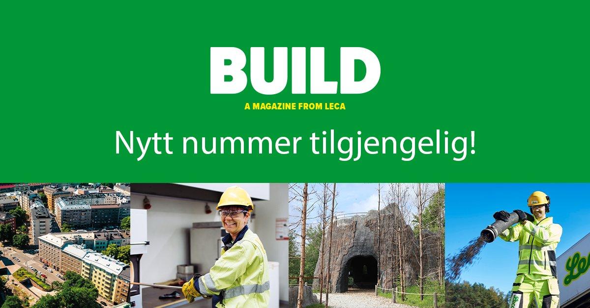 Leca-familien i Europa består av selskap i et titalls land. Sammen utgir vi magasinet BUILD. I det nye nummeret finner du: Kaibygging i England, vannfordrøyning i Sverige, brobygging i Finland, økologisk husbygging i Portugal. Og mye, mye mer. https://t.co/EconRWSHDb https://t.co/KDB2UStW7Y