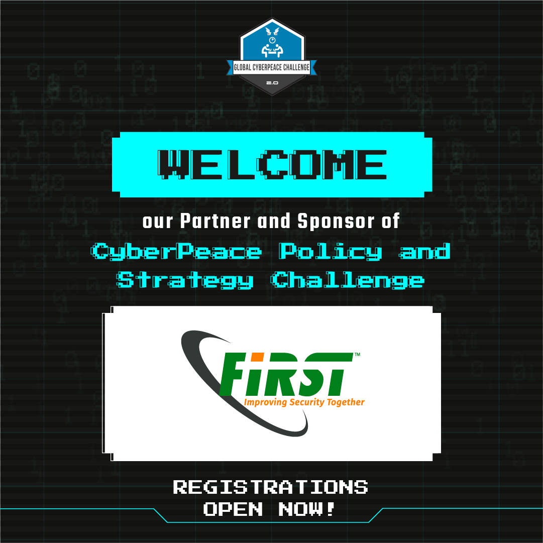 GCC 2️⃣.0️⃣ welcomes its partner and sponsor for CyberPeace Policy and Strategy Challenge.  REGISTER NOW!  Head over to  to know more!  #CyberPeace #CyberEthics #CyberSecurity #OnlineSafety
