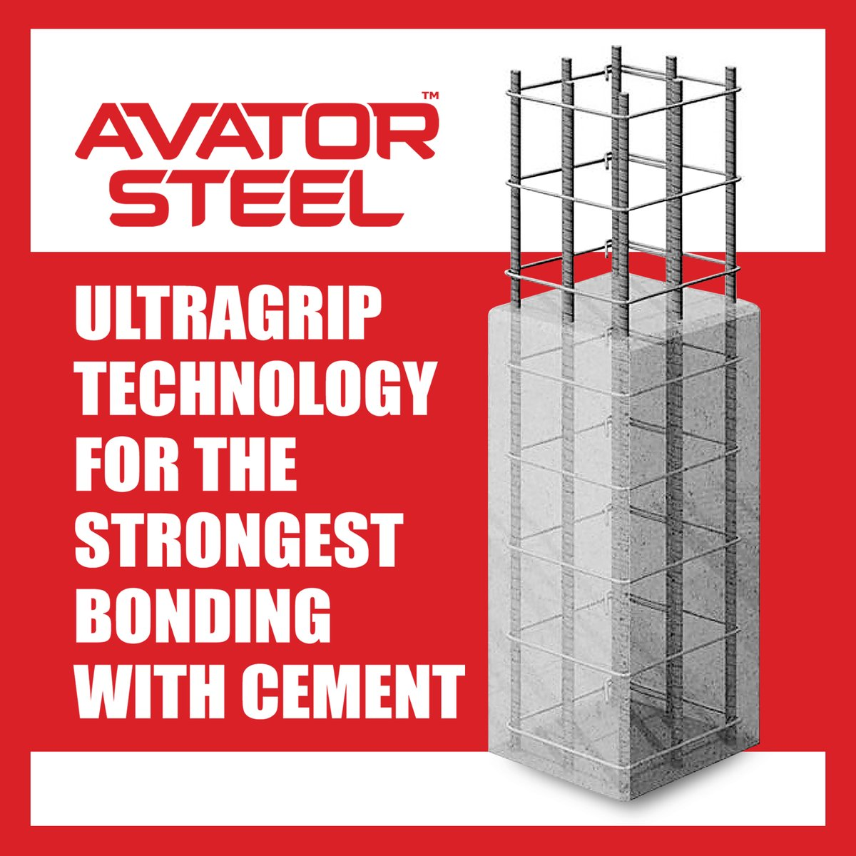 #AvatorSteel TMT bars are made with ultra grip technology which allows it to have the strongest bonding with cement.  For a lifetime of strength and stability, build your dream home with us.