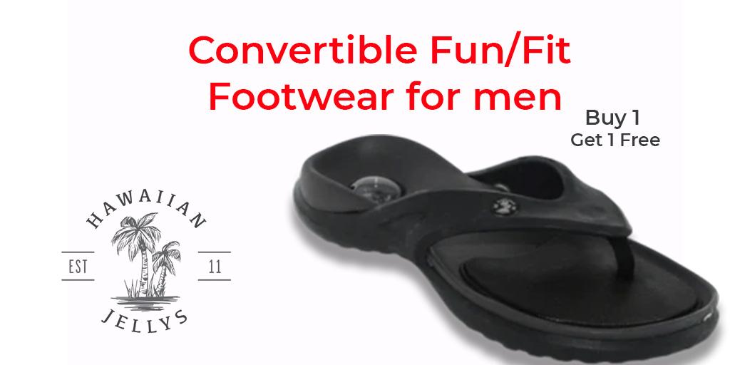 Convertible fun/fit footwear for men #flipflops #sandals #feet #leathersandals #Slipaaahs #slippers #flipflopseason #fashion #summer #hawaiianjelly #shoes #dressshoes #onlineshopping #foot #heels #kidsfeet #chinelo #convertiblesandals #patrioticsandals #footwear #leathersandals