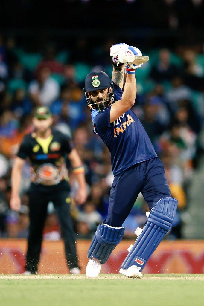 🇮🇳 💪5⃣0⃣ up for Virat Kohli off 4⃣1⃣ balls.   IND 94/2 after 12 Overs.   #AUSvsIND | #INDvsAUS   Follow live updates from 3rd T20I ⬇️