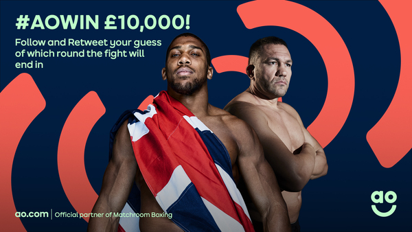 It's our biggest ever cash giveaway! To celebrate AO being the official partner of Matchroom Boxing, we're giving away up to £10,000. All you have to do is follow @ao and RT using #AOWIN with your guess of which round the Joshua v Pulev fight will end in. Simple.