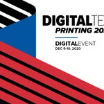 Image for the Tweet beginning: Digital Textile Printing 2020 will