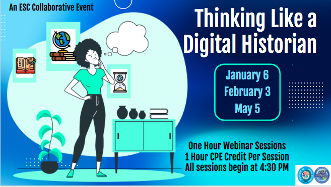 Join us for our first session in January for #ThinkingLikeADigitalHistorian registration.esc11.net/catalog/sessio…