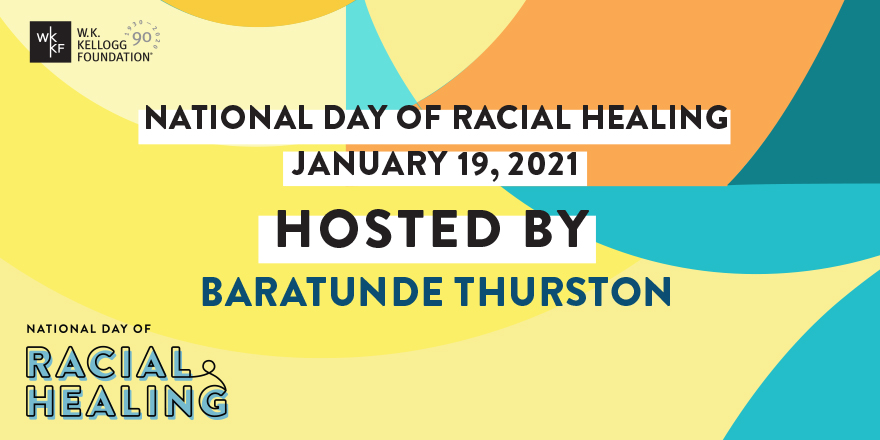 We are thrilled that @Baratunde will host our 5th annual National Day of Racial Healing.   Join us on Tues., Jan. 19, 2021 at 3pm EST as we celebrate our common humanity and acknowledge the truths from our shared history. RSVP at  #HowWeHeal