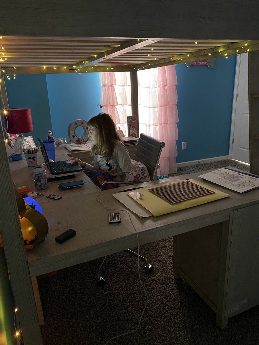 Jennifer Knepper On Twitter Pretty Thankful For These Loft Bed Desk Combos Who Thought School Would Be In Your Bedroom 2020 Is Weird