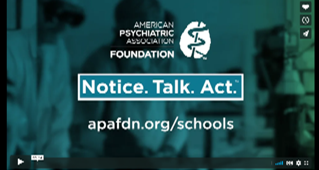 It currently takes on average 8-10 years from first signs of a mental health concern to actual connection to care. We must do better.  Watch our video on how Notice. Talk. Act. at School helps teachers spot early signs in middle & high school students at
