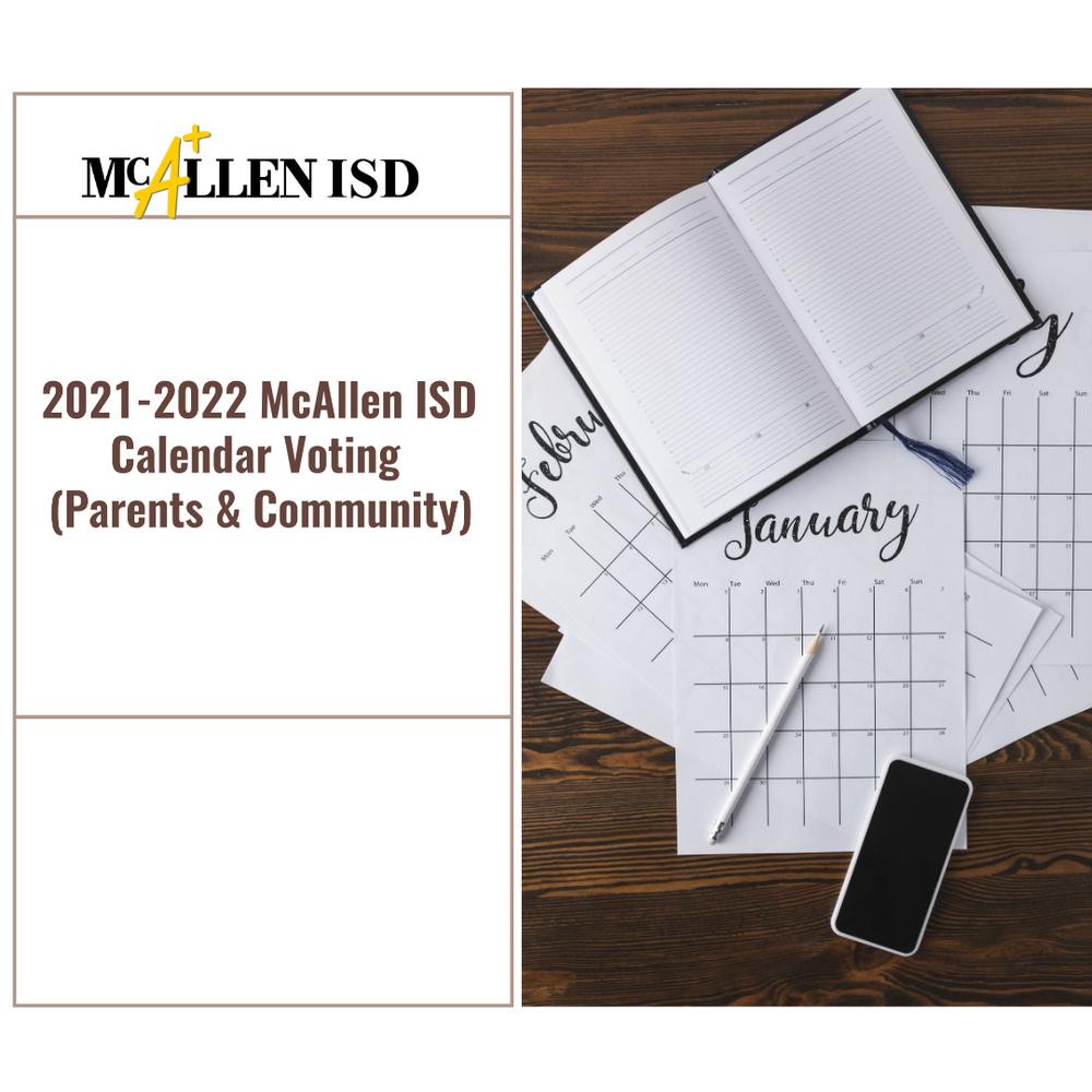 Mcallen Isd 2021-2022 Calendar Background