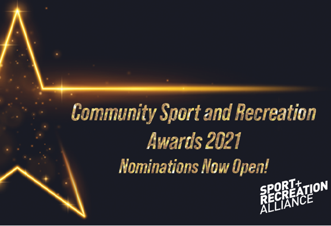 Nominations open for the Community Sport and Recreation Awards 2021. There are five categories in which you can enter, with each winning project picking up a £1,000 prize at a virtual awards ceremony. Deadline for entries is midnight Monday 21 December; https://t.co/CVk34shYVU