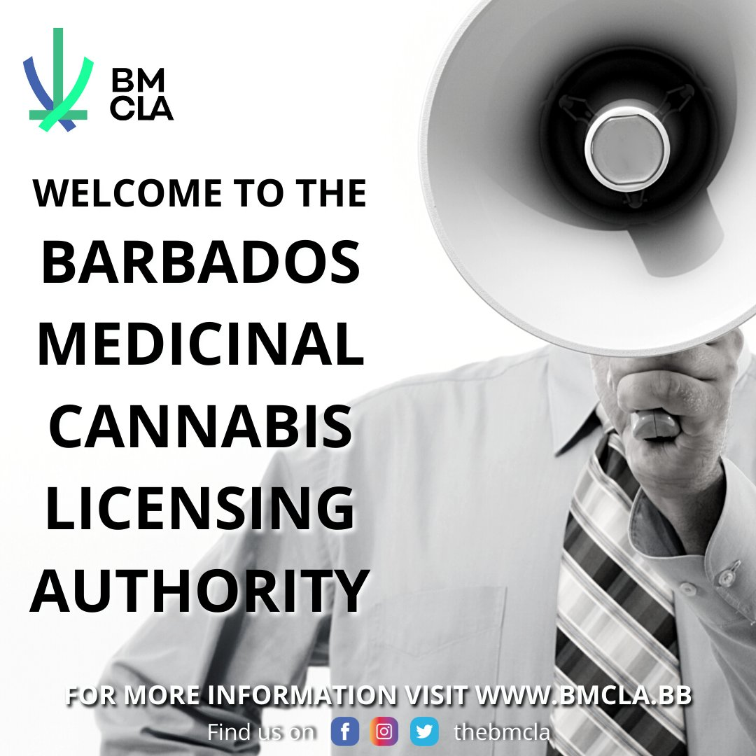 """Uživatel Barbados Medicinal Cannabis Licensing Authority na Twitteru:  """"Welcome to the social media pages of the Barbados Medicinal Cannabis  Licensing Authority (BMCLA). Stay tuned as we bring you lots of information  about"""