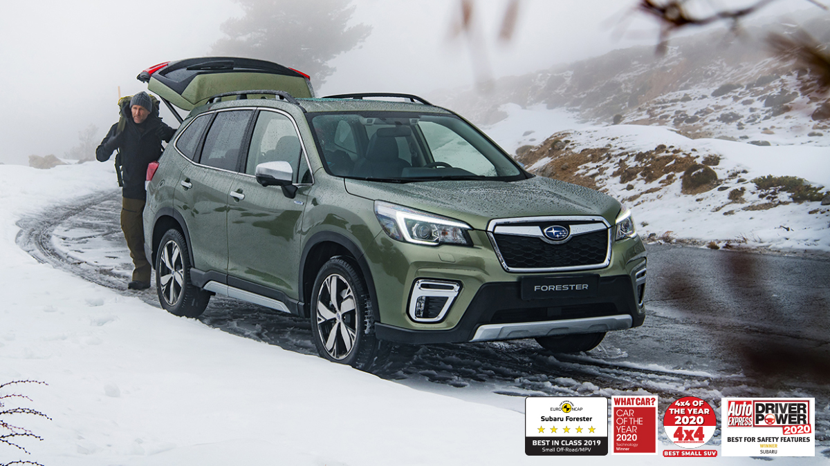 """Forester e-BOXER does not like to be held back by rough weather conditions. This ever so capable SUV turns rough journeys from """"if"""" to """"when"""" with Symmetrical All-Wheel Drive and supreme drivability!  Discover 2.9% PCP/HP Finance on Forester today - https://t.co/b88TLioOTg https://t.co/Caxbd8JOkv"""