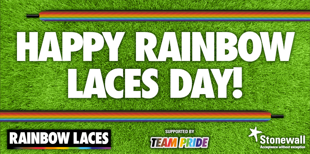 Happy #RainbowLaces Day! We hope you're all laced up with pride. This year we want to share with everyone 10 tips to step up as an ally to LGBT+ people in sport. We can all be allies to each other 💗 Please read and share ✨🌈✨