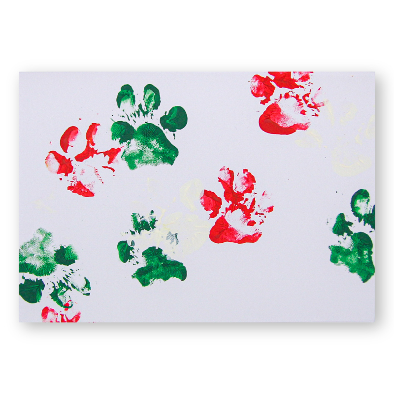 If you're on a mission to send the most unique holiday cards your friends and family have ever seen, look no further!  These puppy paw print holiday cards come in sets of 5 with envelopes, & there are only 100 total available! Get yours now!  Grab yours: