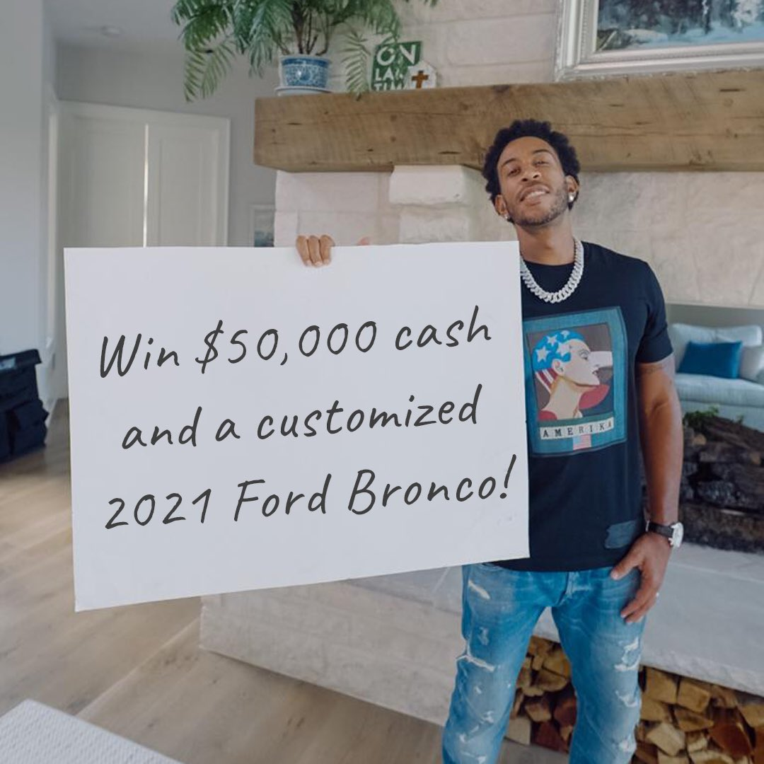 Win $50,000 cash from @KidNation AND a fully customized 2021 Ford Bronco First Edition from @galpinford worth $100,000 while supporting 10,000 kids!