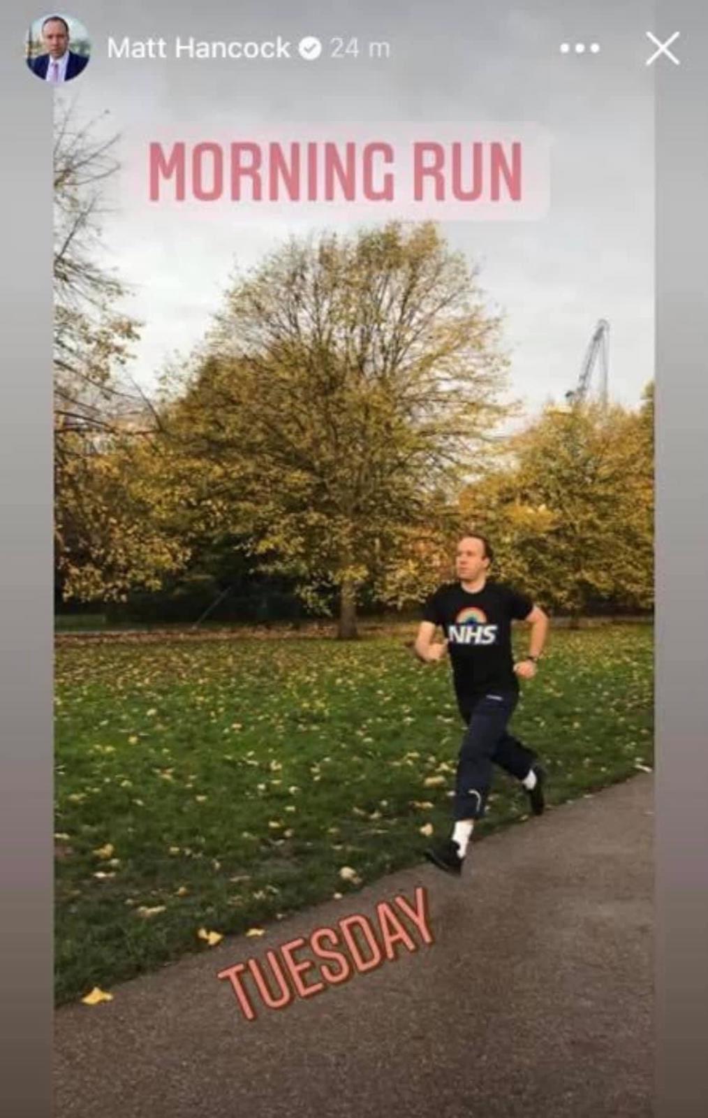 Chris Lloyd On Twitter Matt Hancock S Fake Crying Was Weird But His Fake Running Is Weirder