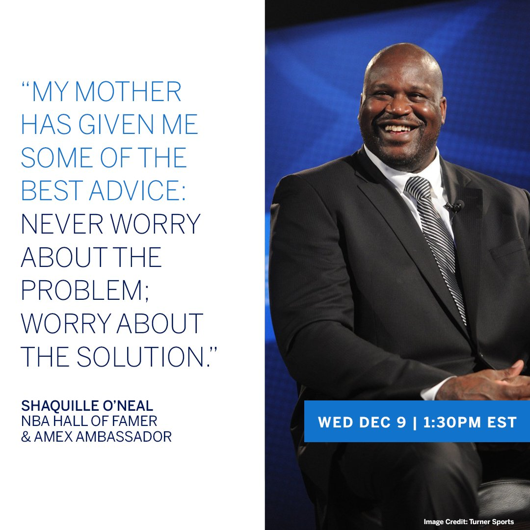 Hear NBA Hall of Famer & #AmexAmbassador @Shaq on business ownership during COVID. He talks with Clayton Ruebensaal (@ClaytonIII), EVP of Global B2B Marketing at #AmexBusiness, tomorrow (Wed, Dec 9th) at 1:30PM EST on