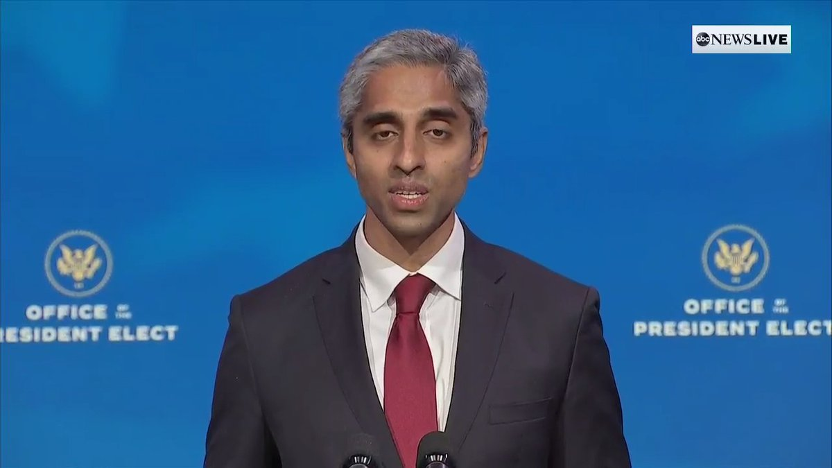 "Surgeon General nominee Dr. Vivek Murthy says he is ""endlessly grateful to serve one of the few countries in the world where the grandson of a poor farmer in India could be asked by the president-elect to look out for the health of an entire nation."""