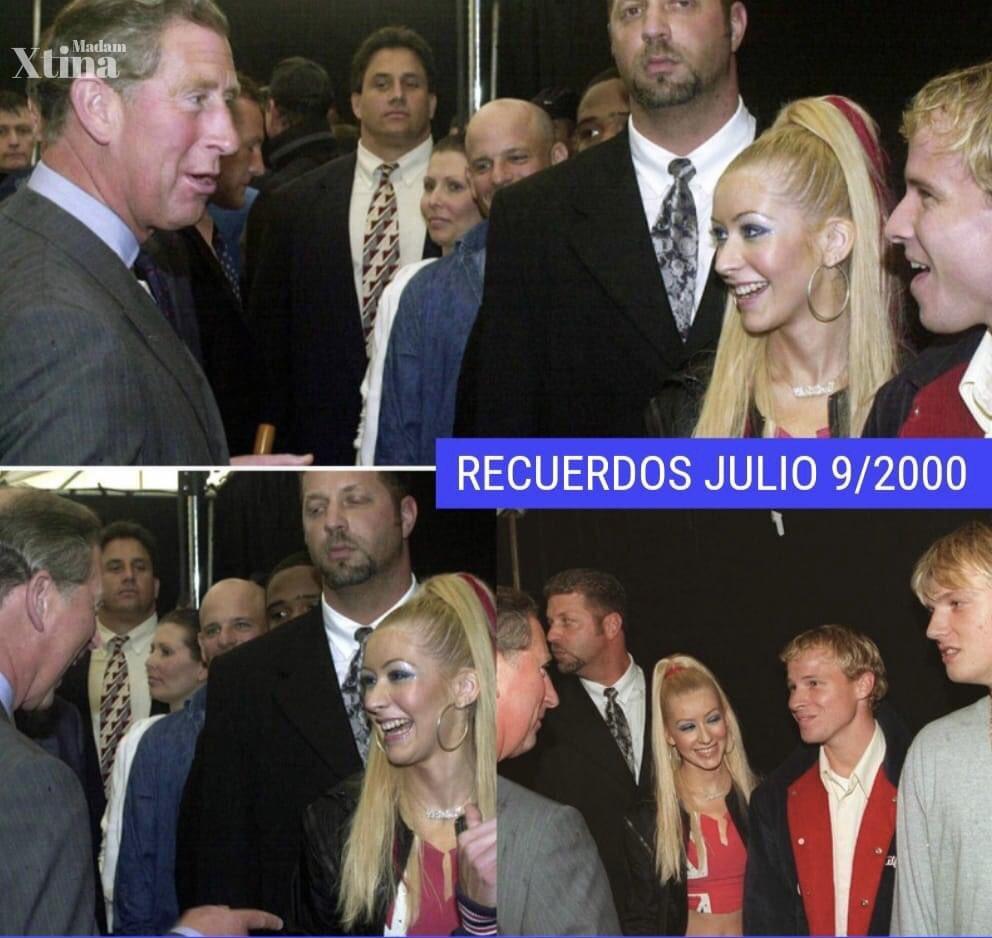 MEMORIES: Christina Aguilera, Backstreet Boys and Prince Charles July 9, 2000. @xtina 😍😍😍😍