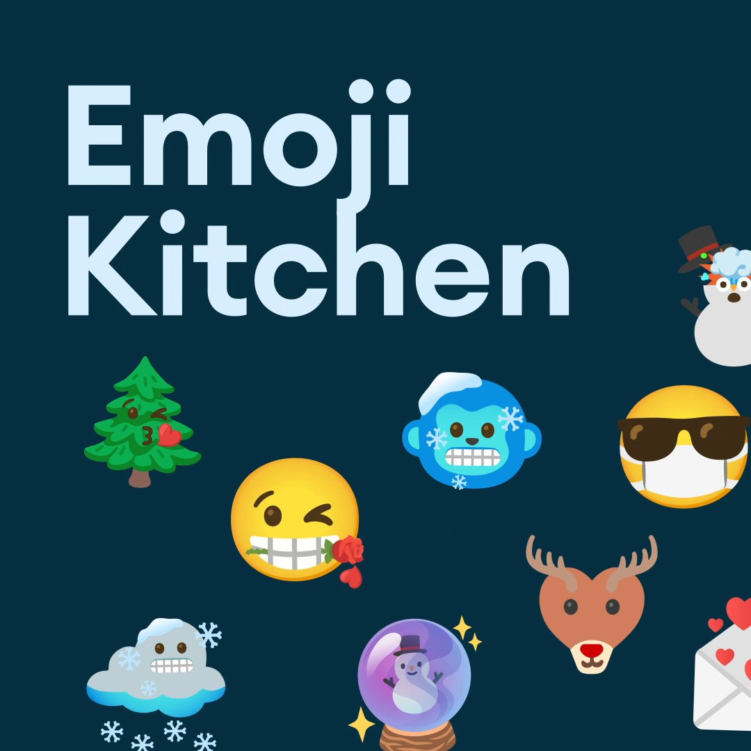 Feeling 🥳 and 😴 this season? Us too. With 14K+ combinations, Emoji Kitchen on #Android has something for all of your holiday moods.