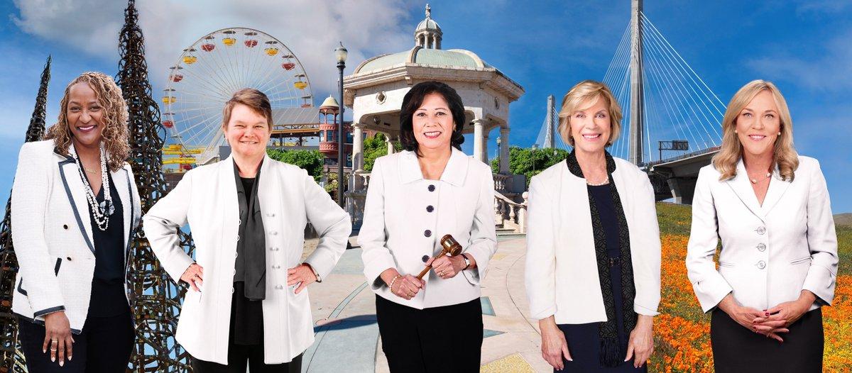 Congrats @HildaSolis! Everyone looking good in white! #womenleaders