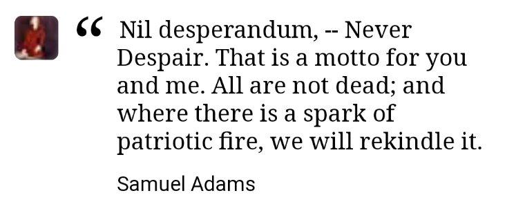 #NilDesperandum