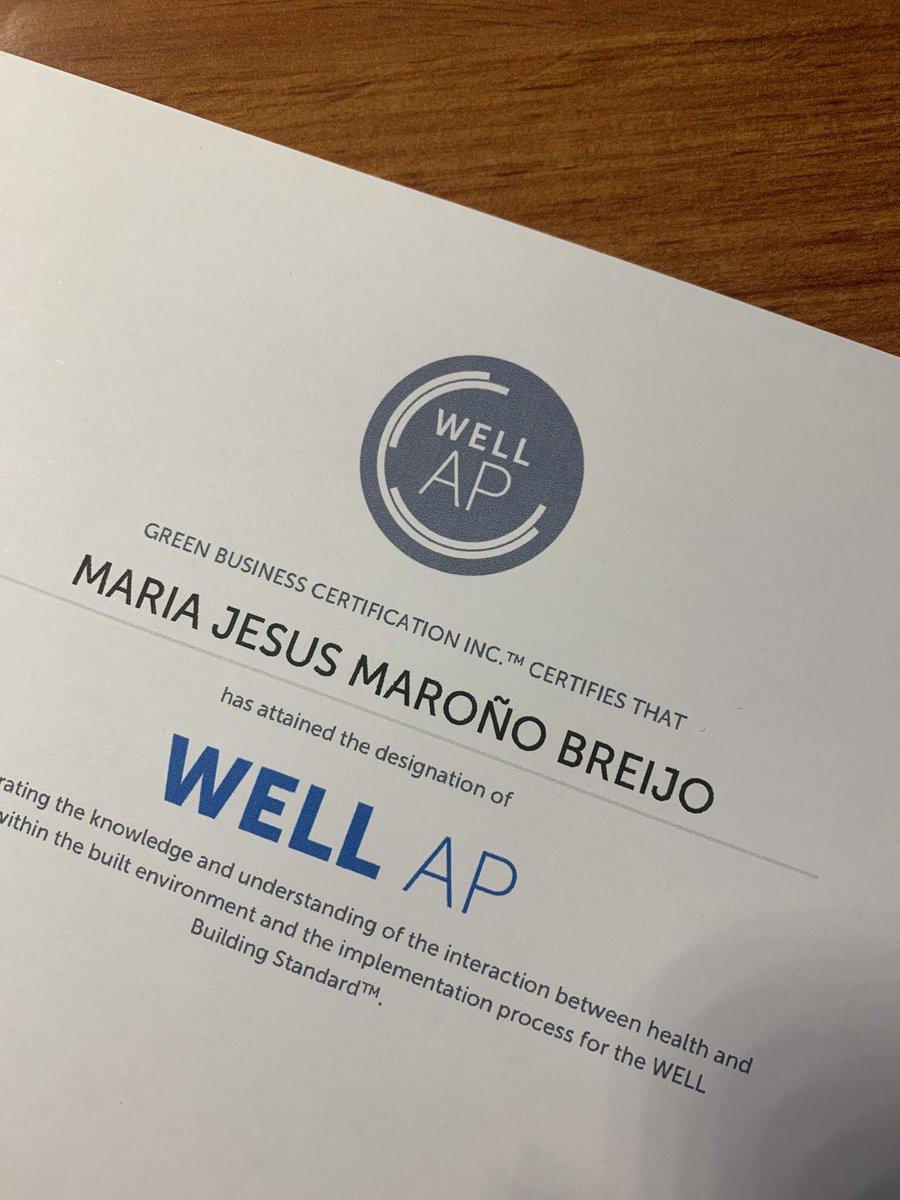 #WELLAP Exam passed!! 🎉 El complemento ideal para #LEED #BREEAM y #VERDE Seguimos trabajando en el camino de la sostenibilidad 🌍🍀