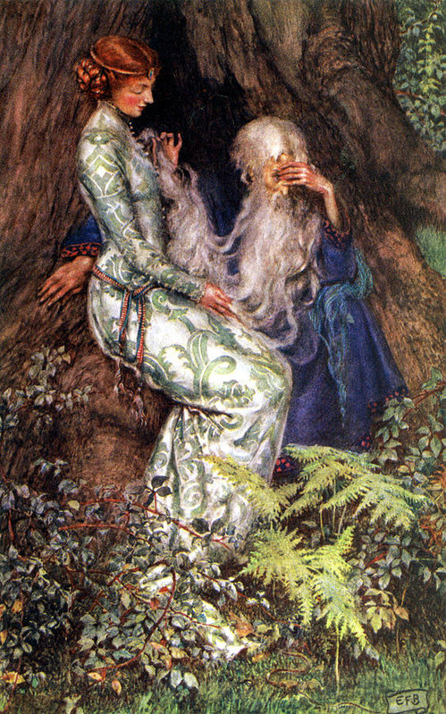 According to Irish myth, descendants of a Matriarch named Danu lost their homeland to feral giants. After 3 attempts to resecure it, they surrendered the land to the Sons of Galicia. It parallels the Nordic myth of Odin's tribe betraying Gullveig, resulting in a generational war.