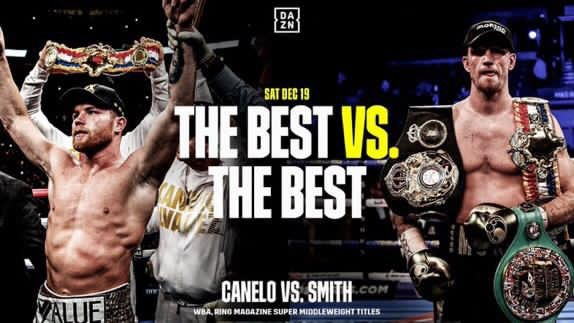 Next Saturday I prove I'm the best in the world at 168lbs. @DAZNBoxing #CaneloSmith