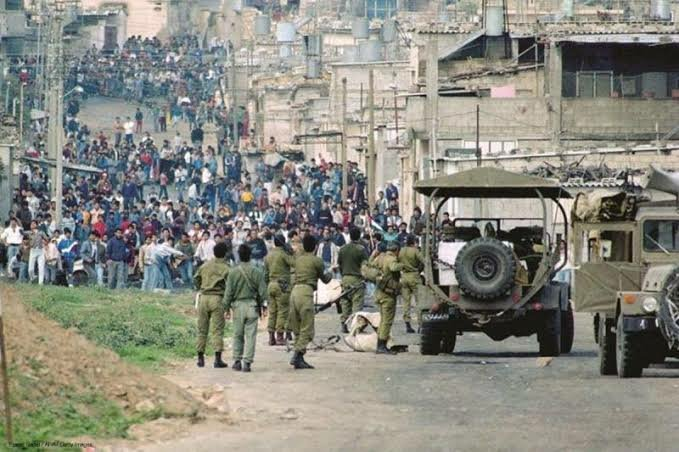 This week marks the 33 yrs since the First Intifada began. First Intifada was a sustained series ofPalestinianprotests, and in some cases violent riots, against theIsraeli occupation. 3 decades later, the struggle for Palestinian freedom continues! #FreePalestine   A THREAD!👇