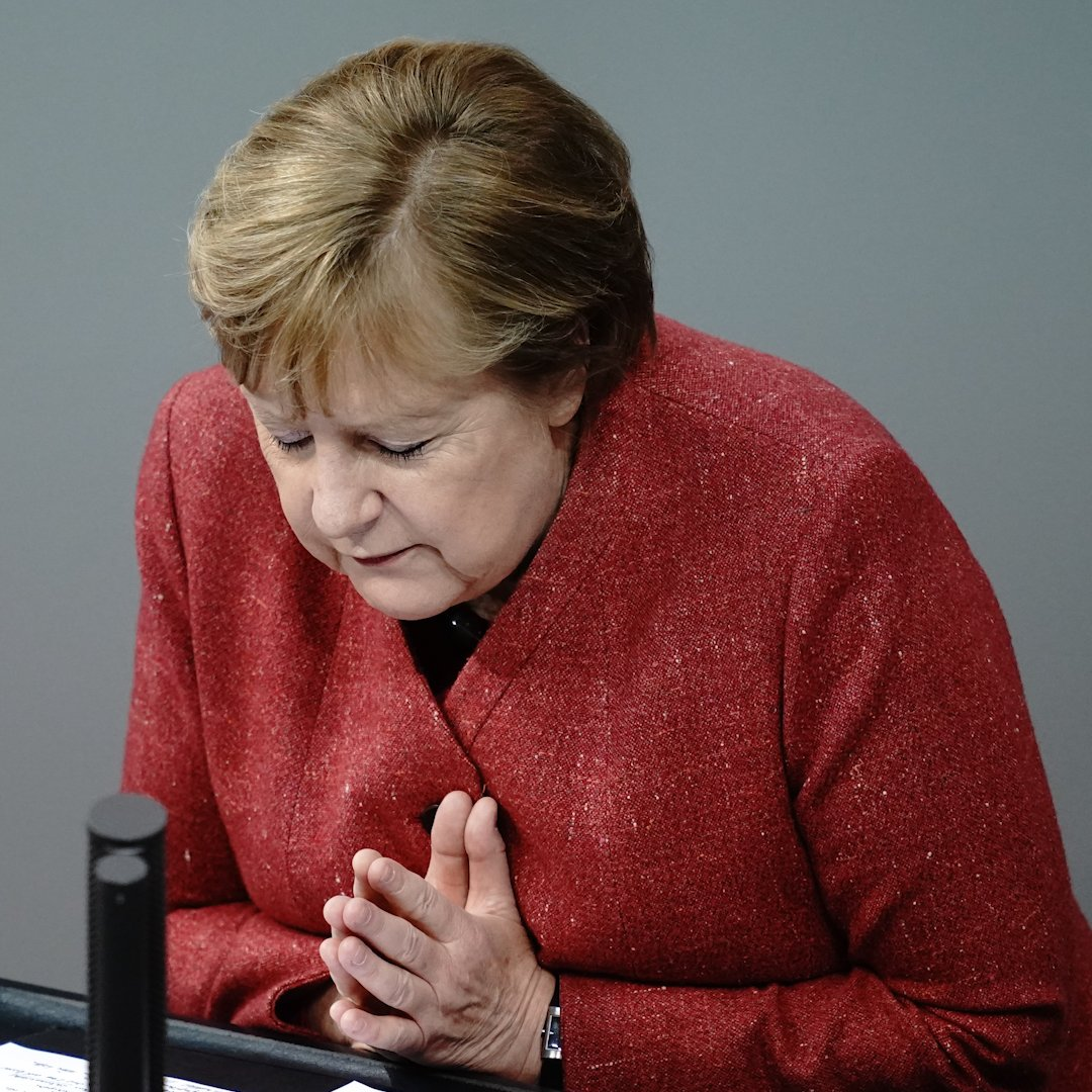 """""""I really am sorry, from the bottom of my heart. But if the price we pay is 590 deaths a day then this in unacceptable.""""  German Chancellor Angela Merkel begs Germans to follow coronavirus restrictions in an unusually emotional appeal ahead of Christmas."""