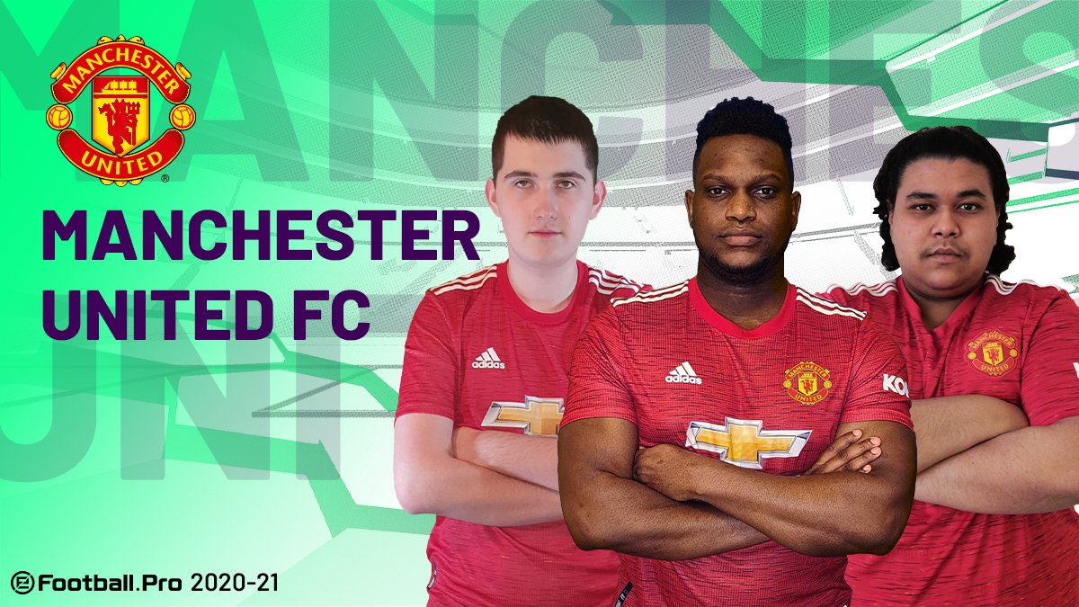 @ManUtd @GSEsports @FCBeSports 🔴@ManUtd will compete for the  title represented by Ostrybuch, Kams10_, and E_C_Oneill this upcoming season  #PES2021 #eFootballPro #MUFC