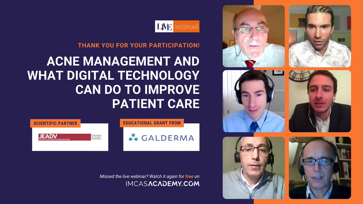 "- REPLAY THE WEBINAR -  Thank you to the 640+ viewers who joined us LIVE and animated the Q&A session during the webinar on ""Acne management and what digital technology can do to improve patient care"". The replay is now available for free here 👉 https://t.co/8WoUQzCGsM https://t.co/gr3MGjEFsV"