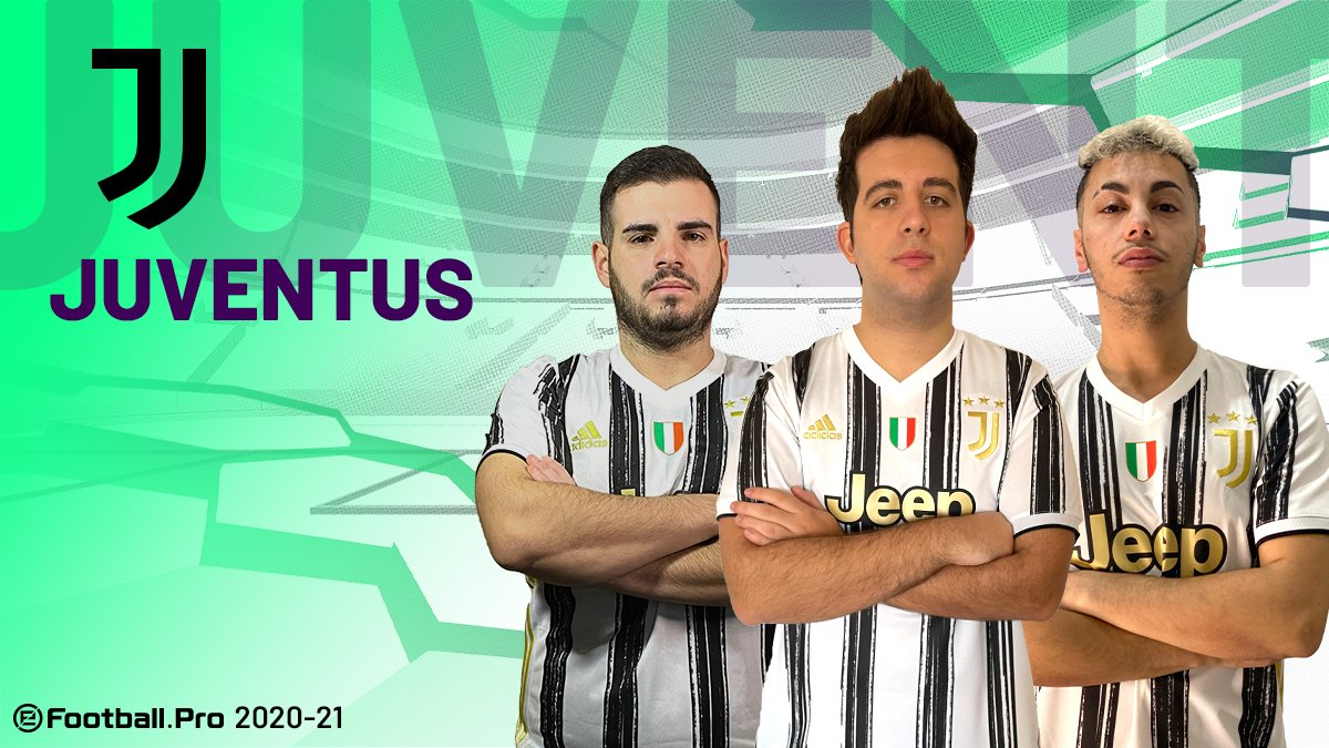 @ManUtd @GSEsports @FCBeSports @fcbayernesports ⚪⚫@juventusfc will be represented by @ETTORITO @ildistruttore44 and @LoScandalo_10 for the second  season in a row  #PES2021 #eFootballPro #JuventusEsports