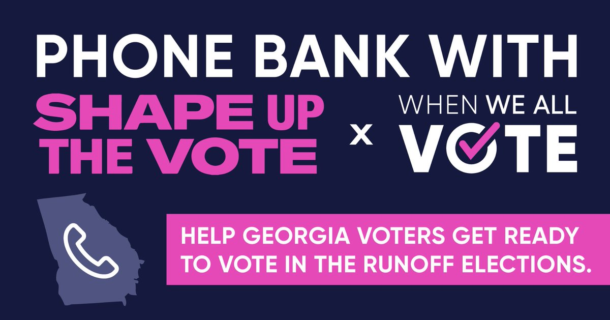 Looking for an opportunity to mobilize Georgia voters? 📲  We're teaming up with #ShapeUpTheVote to get Georgia barber shops, hair salons, and their clients #RegisteredAndReady to vote in the upcoming runoffs. 🍑  RSVP for our first phone bank TODAY →