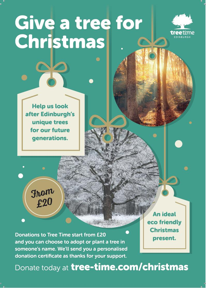 Christmas is just around the corner! Why not give a gift that protects trees and wildlife across Edinburgh while remembering or showing a loved one you care. Leave a lasting legacy by donating today. https://t.co/wE9bLnCPHl