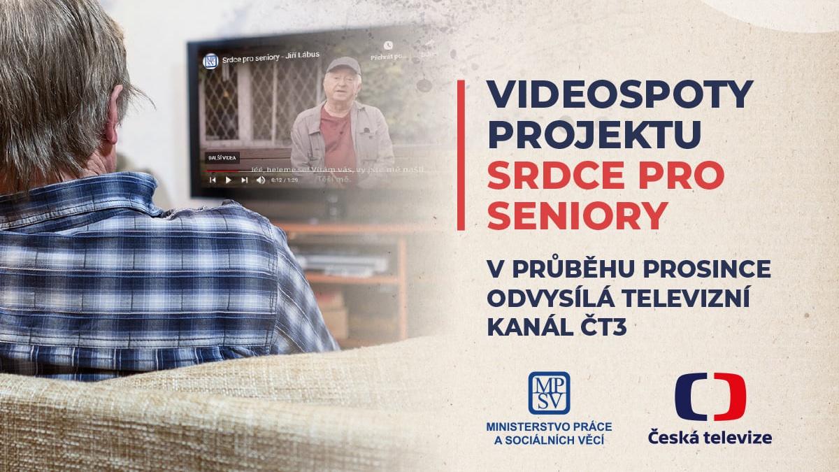 """MPSV ve spolupráci s @CzechTV spustilo unikátní projekt """"Srdce pro seniory"""". Prostřednictvím televizního kanálu ČT3 budou v průběhu prosince vysílané krátké videospoty určené seniorům nebo jejich rodinám, které je mají povzbudit.  Více informací na 📍https://t.co/Q2chTwsRtU https://t.co/EBKbYwckQR"""