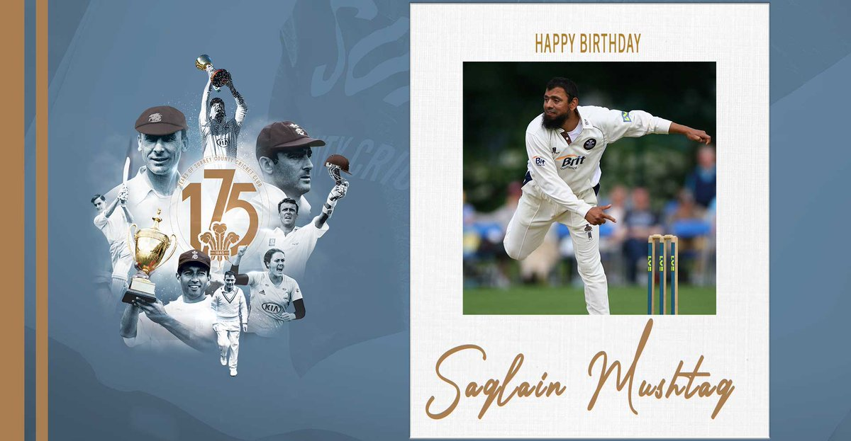 🎂 Happy 44th birthday to @Saqlain_Mushtaq!  The magical spinner took 544 wickets for Surrey in 188 matches.