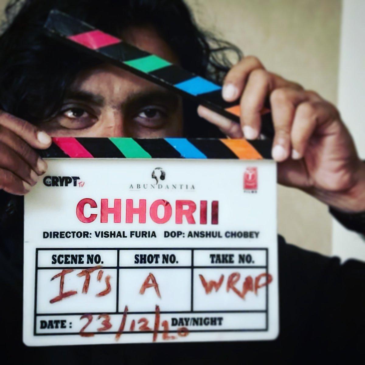 "Reels of ""Chhorii"" hv been successfully filmed with Blood, Sweat and Tears literally.💀 #chhorii #horror #Hindi @Abundantia_Ent @vikramix @ShikhaaSharma03 @NotJackDavis #BhushanKumar @Nushrratt @saurabhgoyall @mitavasisht @rajeshjais1  @VishalKapoorVK @anshulchobey  @ritwickm_"