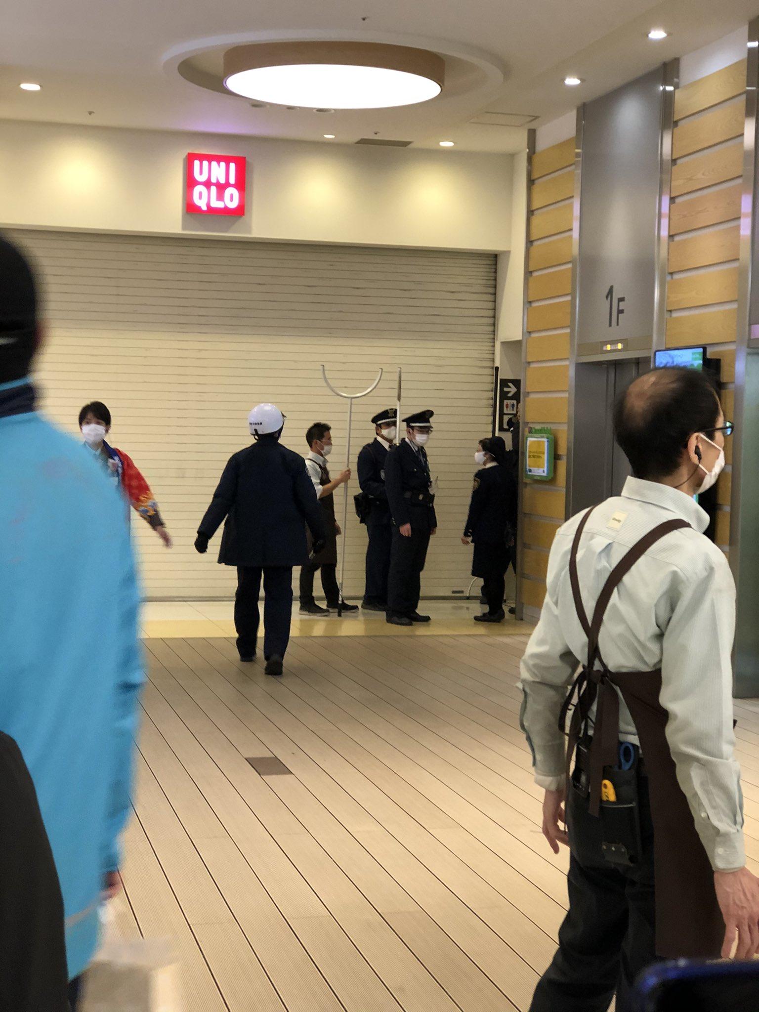ラゾーナ川崎で藤本麻希容疑者が女性を刺した刺傷事件の現場画像