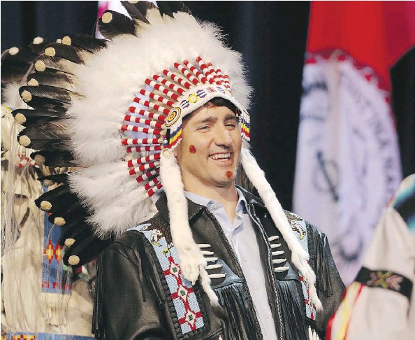 🗣Justin Trudeau ✔ To my Indigenous fans, I am one of you and thank you for your generous donations to the Liberal Party in 2020. My First Nation honorary name is Boiling Water, short for Coliform Escherichia E. Coli. I shit you not.