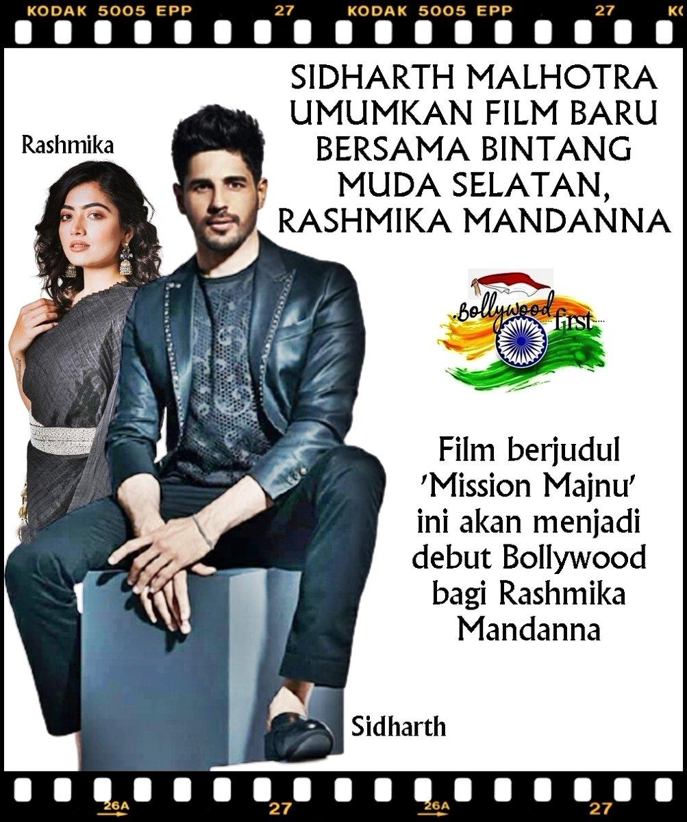 SIDHARTH MALHOTRA UMUMKAN FILM BARU, 'MISSION MAJNU', BERSAMA RASHMIKA MANDANNA 😉  #RashmikaMandanna #SidharthMalhotra @iamRashmika @SidMalhotra #MissionMajnu #ShantanuBagchi