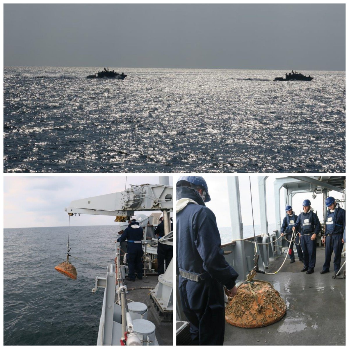 #FightingAces recently took part in a major exercise with @HMSShoreham and @USNavy, ensuring our continuous ability to protect vital shipping lanes. Practice mines were detected by autonomous vessels and helicopters, and 'neutralised' with our mine disposal system #Continuous15