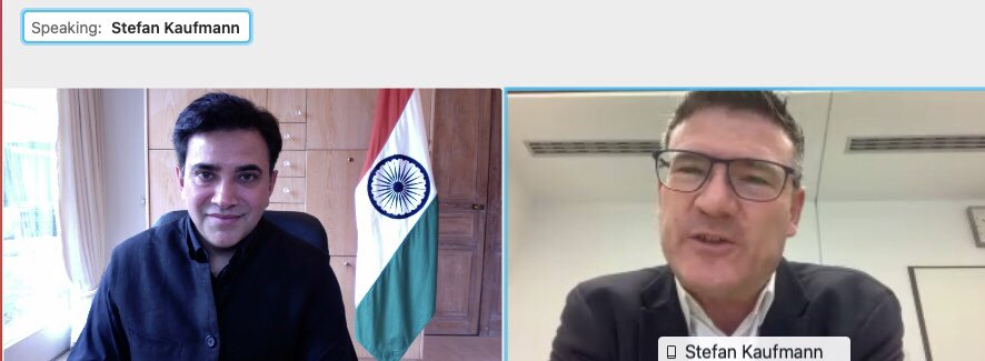 Great conversation with Hon'ble @StefanKaufmann MdB on 22.12.2020 about increasing #IndiaGermany trade & investments, cooperation in area of education, vocational training & research. Look forward to working together to strengthen the long standing #Stuttgart #Mumbai partnership