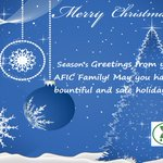 Image for the Tweet beginning: Season's greetings from your AFIC