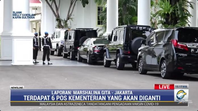 #NewslineMetroTV Ada 3 tokoh yang sudah datang ke Istana Negara Jakarta yang diperkirakan untuk menggantikan sejumlah pos menteri yang rencananya akan diganti.