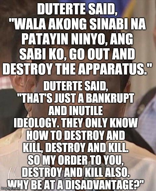 @inquirerdotnet @MoxieLi @jiandradeINQ This is the entire picture that we should see. Satan talks when Duterte speaks and he has been tempting people to do evil and people who serve money and not God blindly support and follow him.