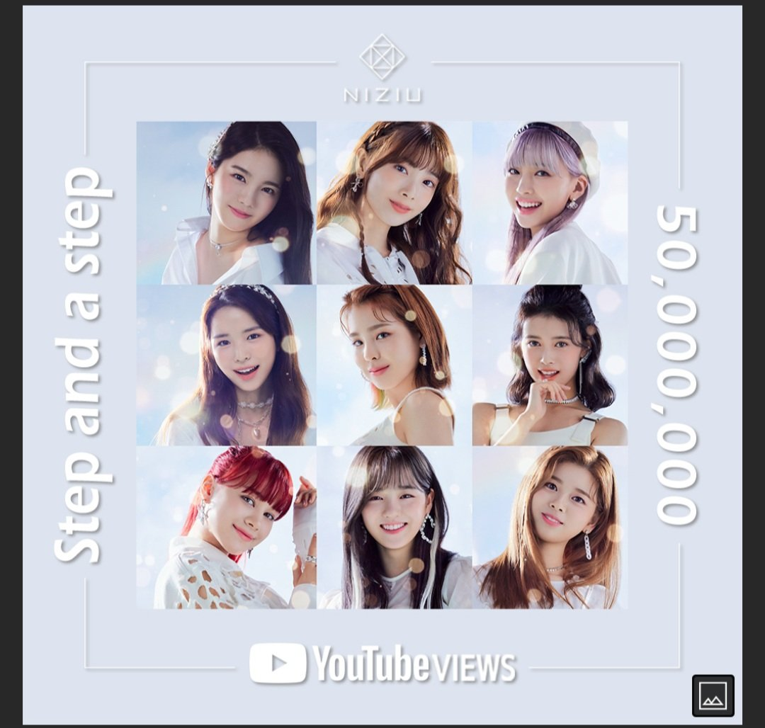 @NiziU__official  single debut step and step has now rich  50 million views on @YouTube . Congratulations   #WithU  . #Stepandastep  #50millionviews .